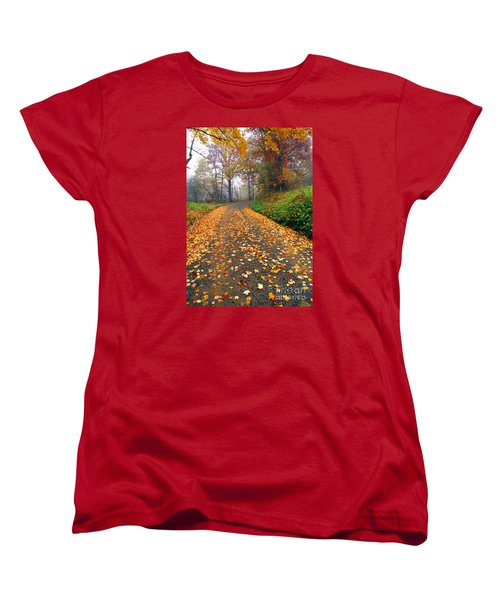 Country Roads Take Me Home Women's T-Shirt (Standard Cut) by Thomas R Fletcher