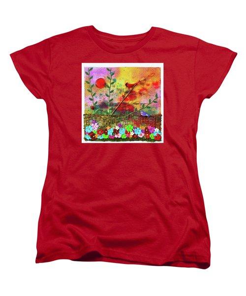 Country Sunrise Women's T-Shirt (Standard Cut) by Donna Blackhall