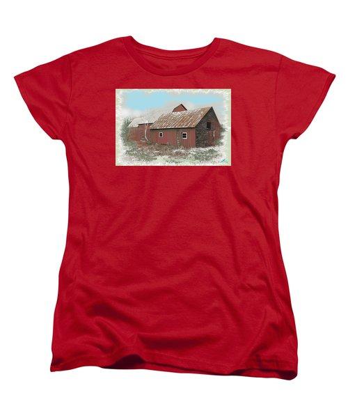 Coventry Barn Women's T-Shirt (Standard Cut) by John Selmer Sr