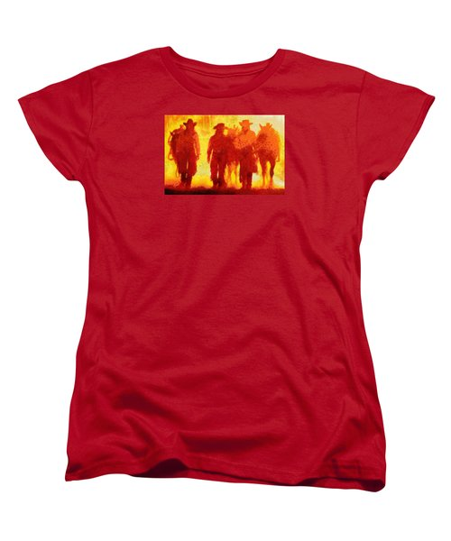 Cowpeople Women's T-Shirt (Standard Cut) by Caito Junqueira