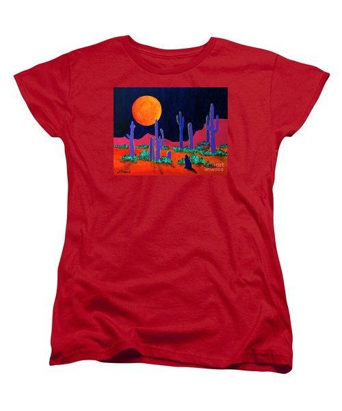 Coyote Moon Women's T-Shirt (Standard Cut) by Jeanette French