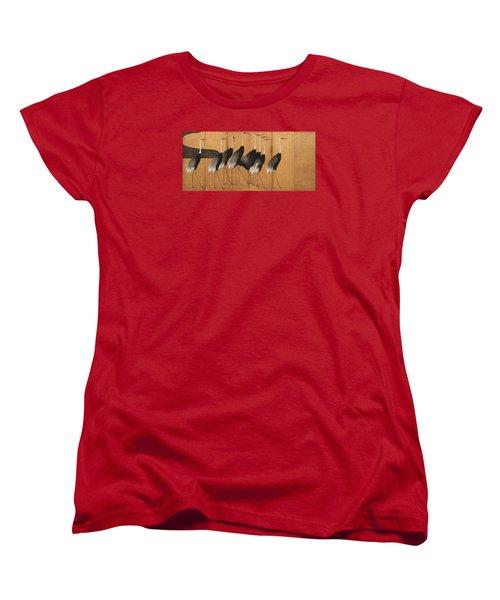 Cranes Women's T-Shirt (Standard Cut) by Ogata Korin