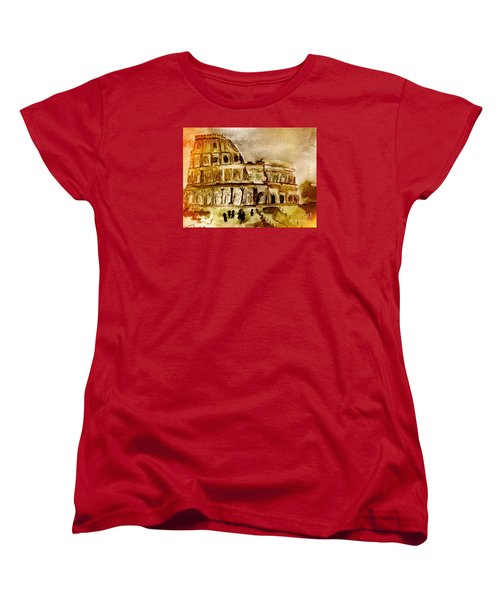Crazy Colosseum Women's T-Shirt (Standard Cut) by Denise Tomasura