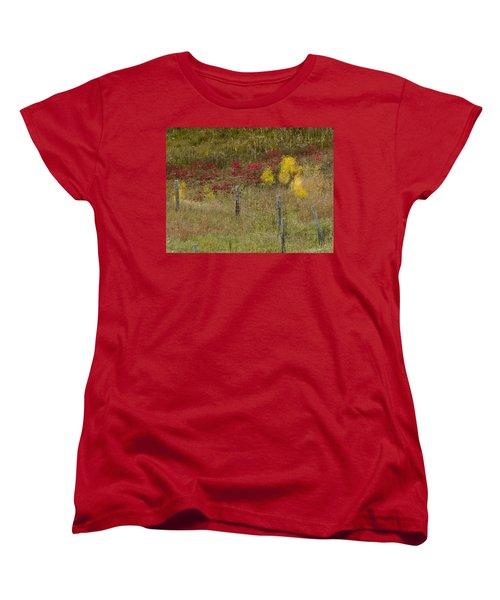 Crimson And Gold Women's T-Shirt (Standard Cut) by Tara Lynn
