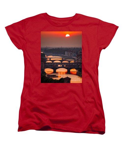 Crimson River Women's T-Shirt (Standard Cut) by Giuseppe Torre