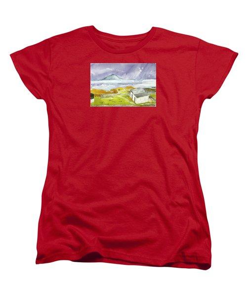 Croagh Patrick And Purple Sky Women's T-Shirt (Standard Cut)