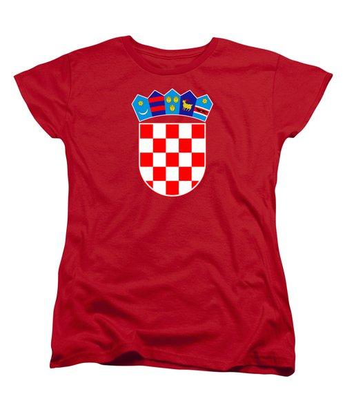 Croatia Coat Of Arms Women's T-Shirt (Standard Cut)
