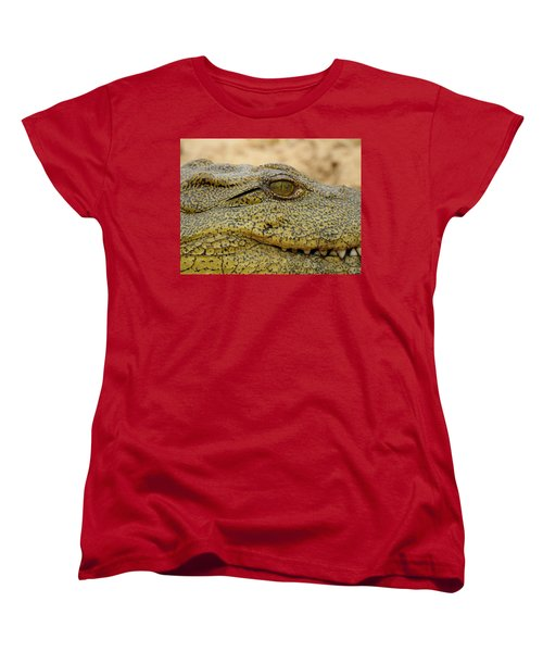 Women's T-Shirt (Standard Cut) featuring the photograph Croc by Betty-Anne McDonald
