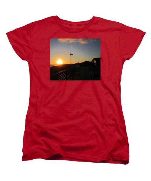 Crystal Cove 4th Of July Women's T-Shirt (Standard Cut) by Dan Twyman