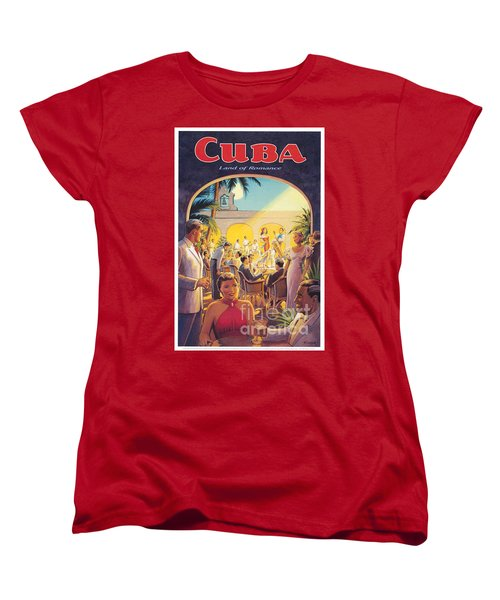 Cuba-land Of Romance Women's T-Shirt (Standard Cut) by Nostalgic Prints