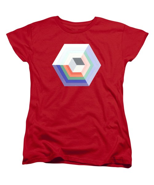 Cube Women's T-Shirt (Standard Cut) by Julio Lopez