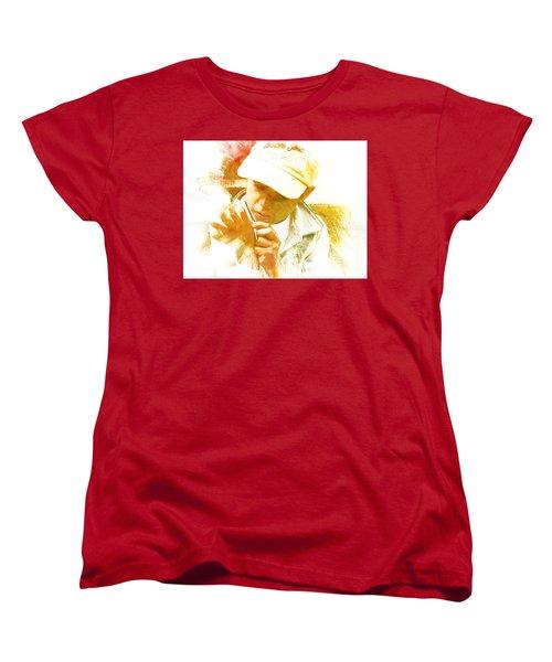 Women's T-Shirt (Standard Cut) featuring the photograph Cuenca Kid 902 - Adinea by Al Bourassa