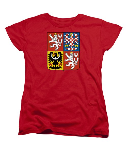 Women's T-Shirt (Standard Cut) featuring the drawing Czech Republic Coat Of Arms by Movie Poster Prints