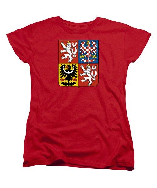 Czech Republic Coat Of Arms Women's T-Shirt (Standard Cut)