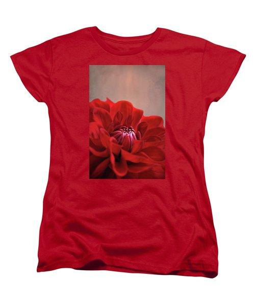 Dahlia Dalliance  Women's T-Shirt (Standard Cut) by Marion Cullen