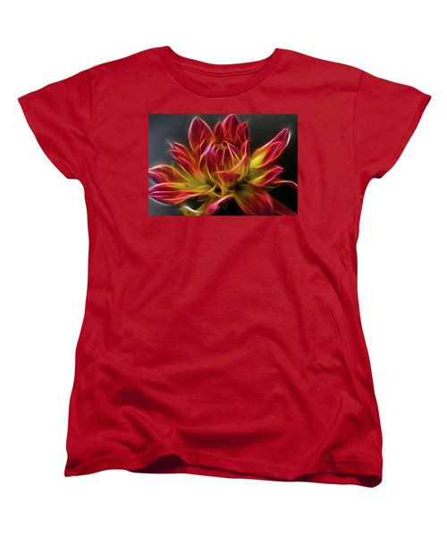 Dahlia Women's T-Shirt (Standard Cut) by Joann Copeland-Paul