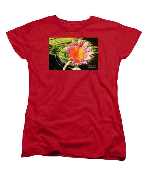 Daisy Swirl Women's T-Shirt (Standard Cut) by Debby Pueschel