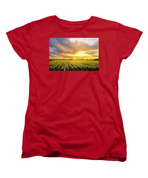 Dances With The Daffodils Women's T-Shirt (Standard Cut) by Ryan Manuel