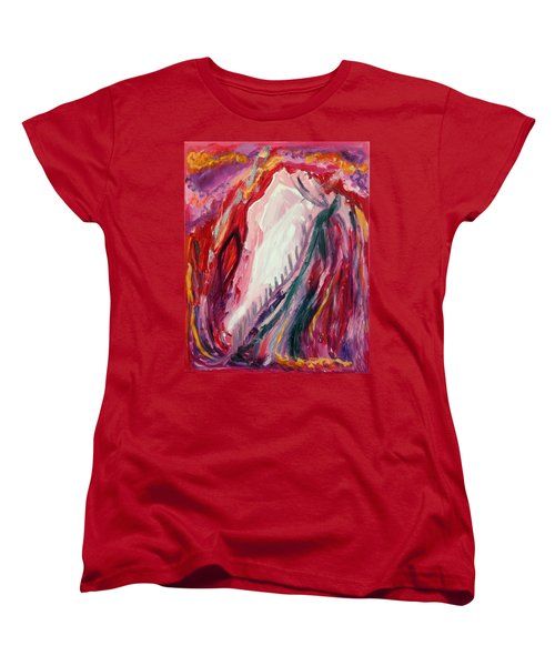 Women's T-Shirt (Standard Cut) featuring the painting Dancing Under The Moon by Diane Pape