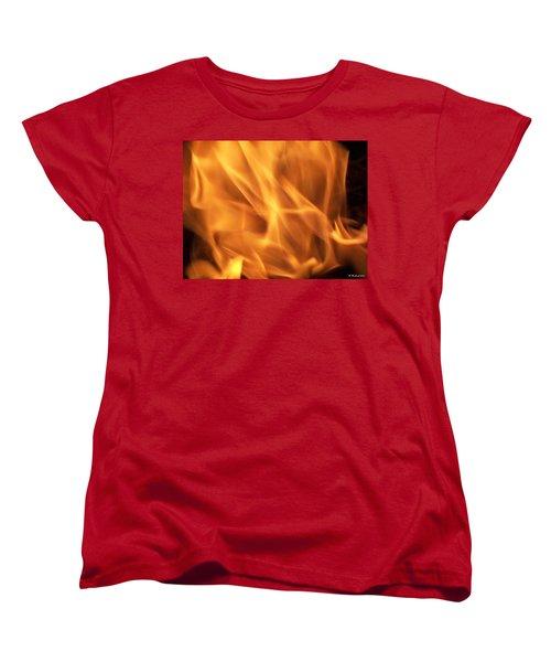 Women's T-Shirt (Standard Cut) featuring the photograph Dancing With Fire by Betty Northcutt