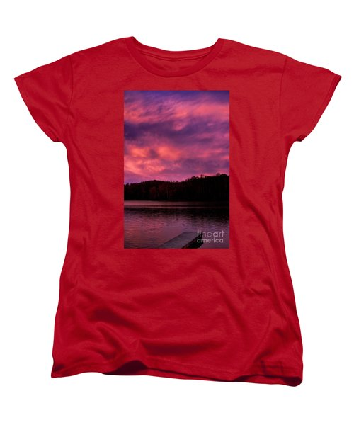 Women's T-Shirt (Standard Cut) featuring the photograph Dawn At The Dock by Thomas R Fletcher