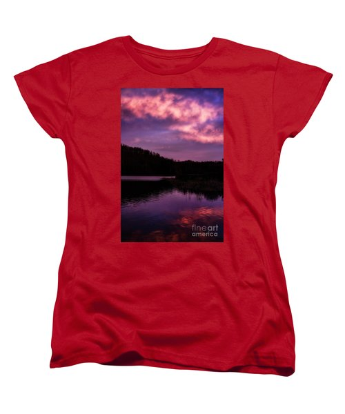 Women's T-Shirt (Standard Cut) featuring the photograph Dawn Big Ditch Wildlife Management Area by Thomas R Fletcher