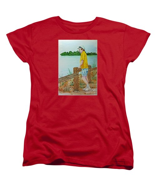 Women's T-Shirt (Standard Cut) featuring the painting Daydreaming by Terri Mills