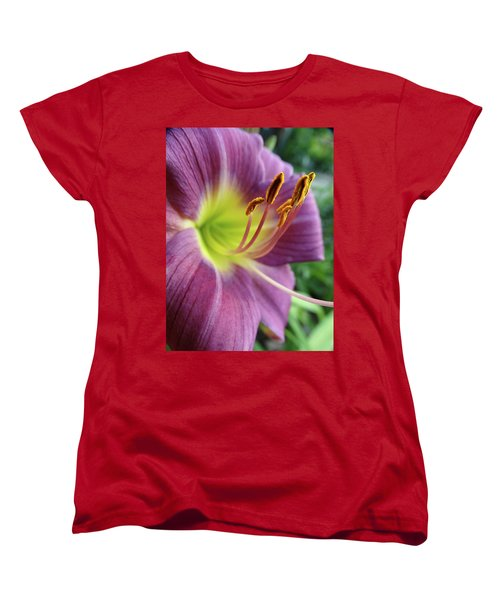 Women's T-Shirt (Standard Cut) featuring the photograph Daylilies In Summer by Rebecca Overton