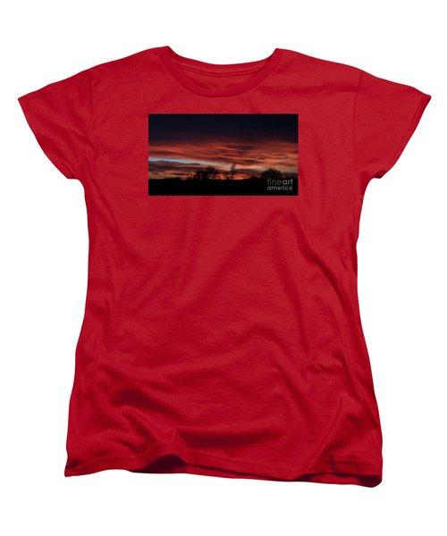 December 2016 Farm Sunset Women's T-Shirt (Standard Cut) by J L Zarek