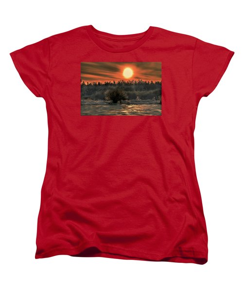 December Sun #f3 Women's T-Shirt (Standard Cut) by Leif Sohlman