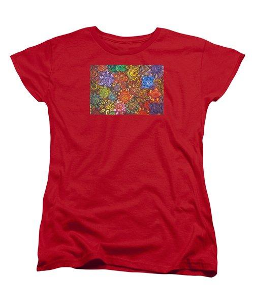 Decorative Flowers Women's T-Shirt (Standard Cut) by Rita Fetisov
