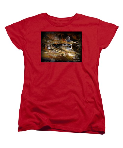 Women's T-Shirt (Standard Cut) featuring the painting Deep Time by Nancy Kane Chapman