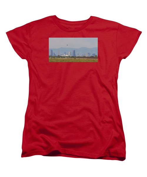Denver Colorado Pretty Bird Fly By Women's T-Shirt (Standard Cut) by James BO Insogna