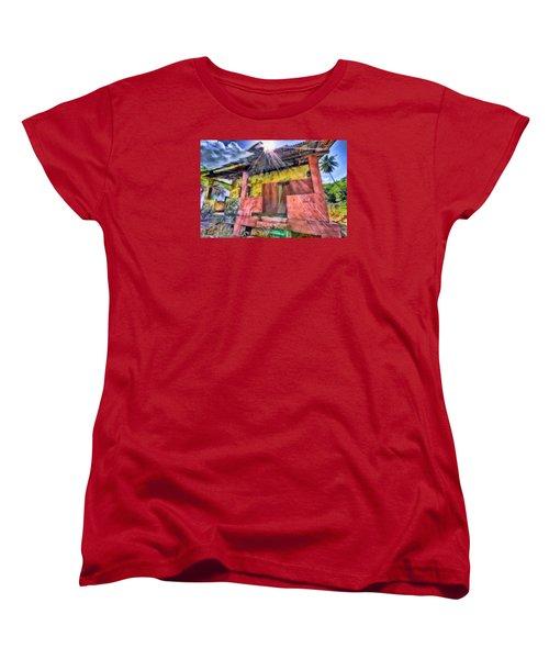 Derelict House Women's T-Shirt (Standard Cut) by Nadia Sanowar