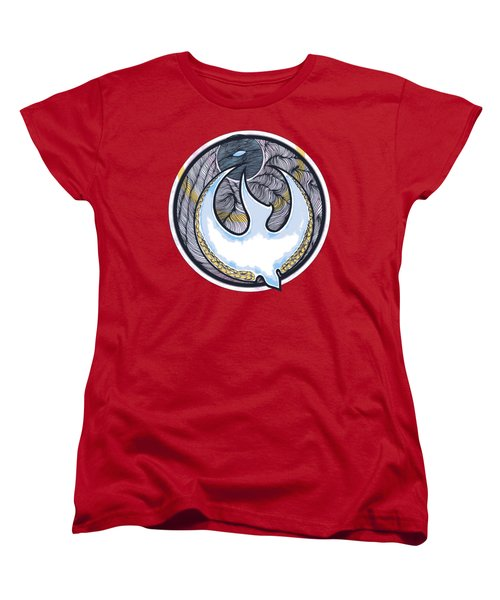 Descending Dove Women's T-Shirt (Standard Cut) by Daniel P Cronin
