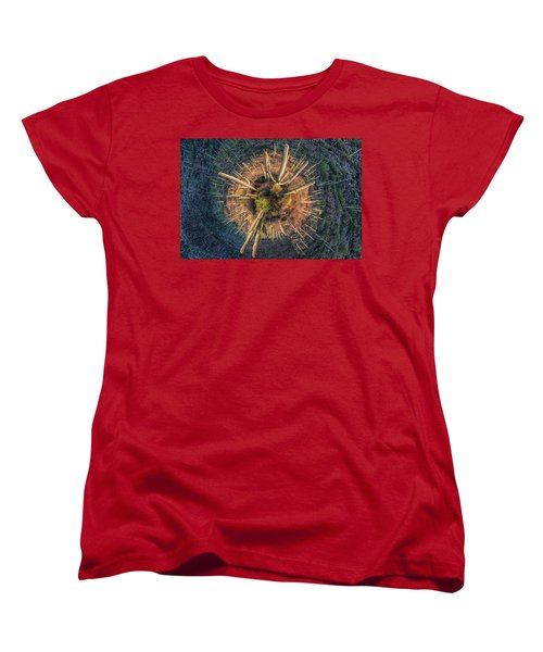 Desert Big Bang Women's T-Shirt (Standard Cut) by Lynn Geoffroy
