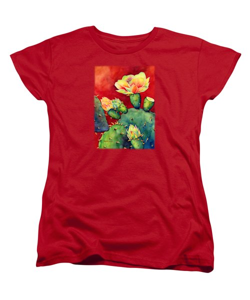 Desert Bloom Women's T-Shirt (Standard Cut) by Hailey E Herrera