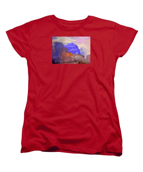 Women's T-Shirt (Standard Cut) featuring the painting Desert By Hannah by Fred Wilson