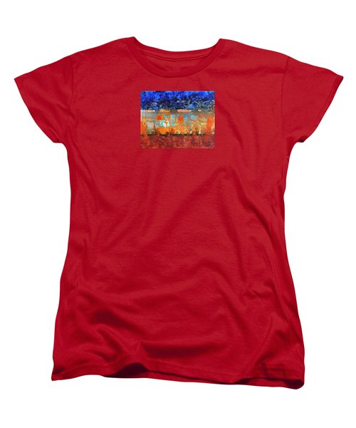 Women's T-Shirt (Standard Cut) featuring the painting Desert Strata by Walter Fahmy