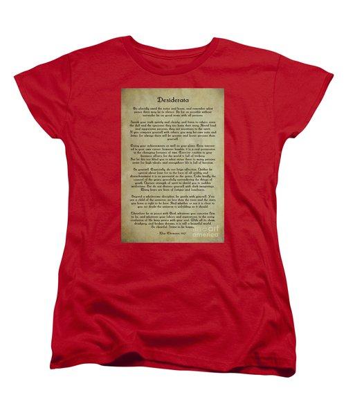 Desiderata Women's T-Shirt (Standard Cut) by Olga Hamilton