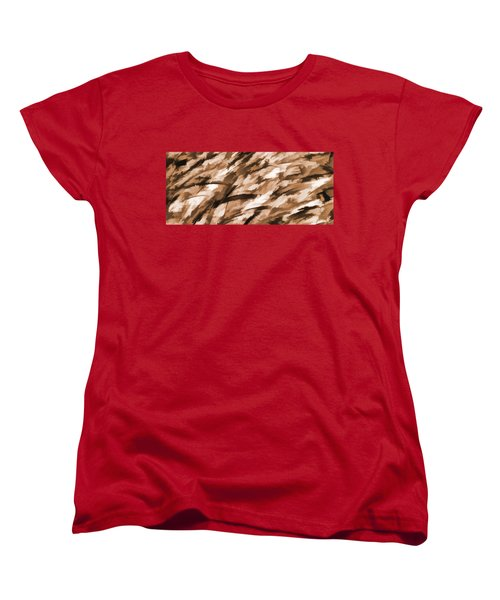 Designer Camo In Beige Women's T-Shirt (Standard Cut) by Bruce Stanfield