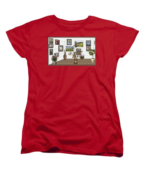 Women's T-Shirt (Standard Cut) featuring the mixed media digital exhibition _ Modern Statue of Modern statue of branches by Pemaro