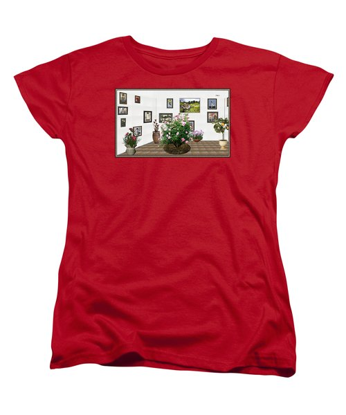Digital Exhibition _ Roses Blossom 22 Women's T-Shirt (Standard Cut) by Pemaro