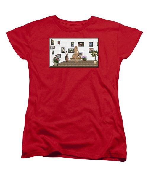 digital exhibition _ Sculpture 9 of girl  Women's T-Shirt (Standard Cut) by Pemaro