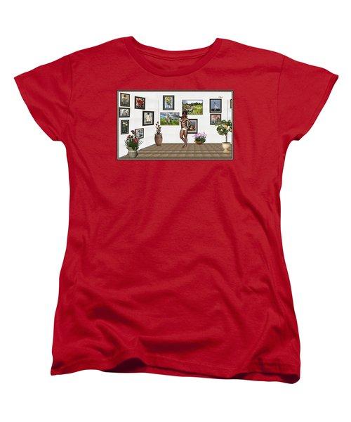 digital exhibition 32 _ posing  Girl 32  Women's T-Shirt (Standard Cut) by Pemaro