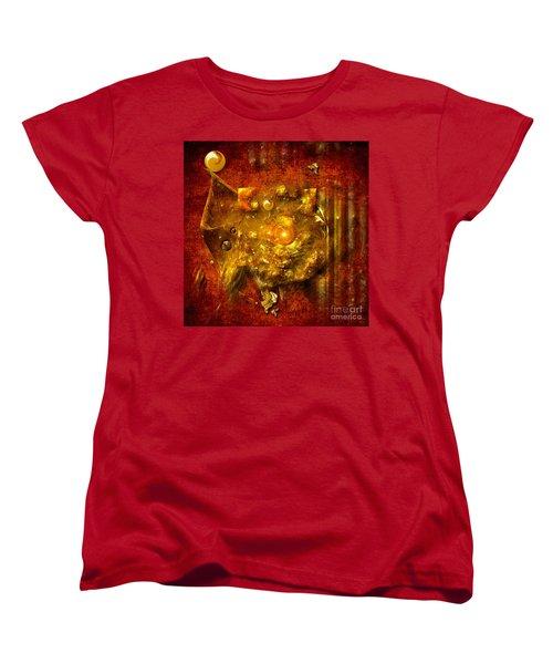 Women's T-Shirt (Standard Cut) featuring the painting Dimension Hole by Alexa Szlavics