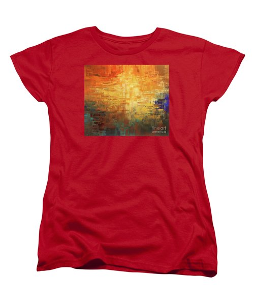 Women's T-Shirt (Standard Cut) featuring the painting Dinosaur Lowlands by Tatiana Iliina
