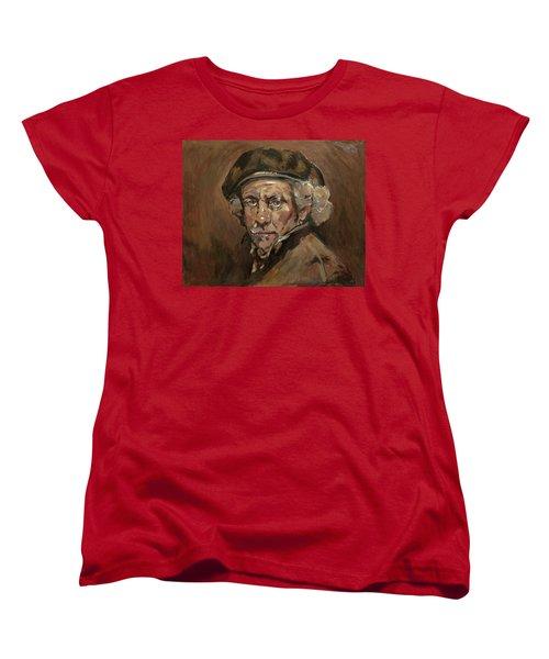 Disguised As Rembrandt Van Rijn Women's T-Shirt (Standard Cut) by Nop Briex