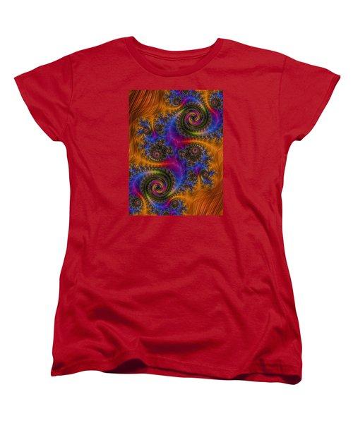 Women's T-Shirt (Standard Cut) featuring the photograph Dizzy Spirals by Ronda Broatch