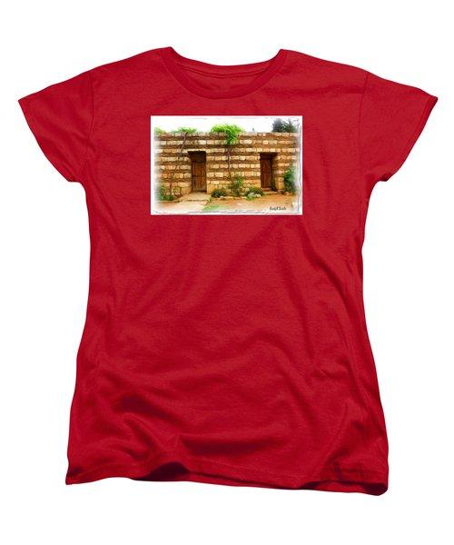 Women's T-Shirt (Standard Cut) featuring the photograph Do-00305 Old Hutt In Anjar by Digital Oil